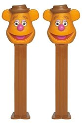 PEZ Candy Dispensers: Disney Muppets Fozzie Bear Dispenser With Candy Refills Pack Of 2