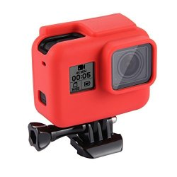 Puluz For Gopro HERO5 Housing Cover Silicone Protective Case With Lens Cover Red