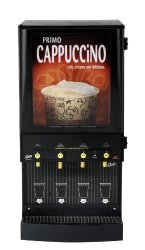 Wilbur Curtis Caf Primo Cappuccino With Lightbox 4 Station Cappuccino 4 Lb Hoppers - Commercial Cappuccino Machine - CAFEPC4CL10000 Each