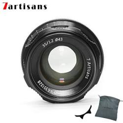 Factory Direct 7ARTISANS 35MM F1.2 Aps-c Manual Focus Lens Widely Fit For Compact Mirrorless Cameras Canon Camera M1 M2 M3 M5 M6