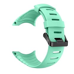 Vovomay Band For Suunto Core Watch Silicone Replacement Band Smart Watch Fitness Strap For Suunto Core Mint Green