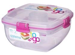Sistema 1.1l Plastic Salad To Go Food Saver