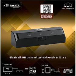 Koramzi Bluetooth Transmitter And Receiver Mini-low Latency A2DP Optical Toslink In out For Hi-fi Sound Quality Aux In out