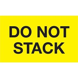 "Tape Logic DL2346 Labels ""do Not Stack"" 3"" X 5"" Fluorescent Yellow 500 Per Roll"
