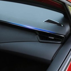GZXinWei Carbon Fiber Auto Interior Side Air Outlet Dashboard Conditioning Vent Cover Car Sticker