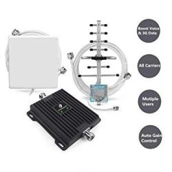 Cell Phone Signal Booster For All Carriers GSM 3G Home And Office Use - Dual Band 850 1900MHZ Band 2 5 Repeater With Panel yagi