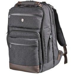 "Victorinox Swiss Army Architecture Urban Rath Slim 17"" Laptop Backpack Grey Brown"