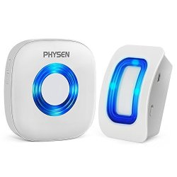 PHYSEN Wireless Door Motion Sensor Alarm Door Open Chime Detect Alert Store Door Entry Chime With 1 Motion Sensor And 1 Receiver 400FT Range