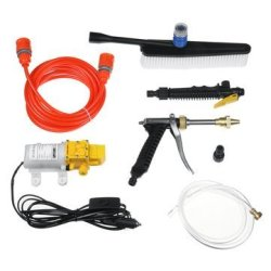 12V 120W Portable High Pressure Car Wash Foam Sprayer Washer Cleaner Water Pump
