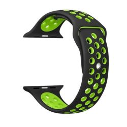 Black And Green 38MM M l Nike Style Strap Band For Apple Watch
