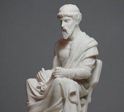 Greekartshop Greek Philosopher Plato Alabaster Statue Sculpture Athens Academy 6.7??