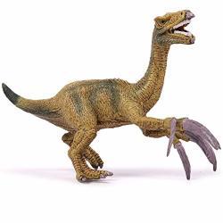 Oenux Kolobok Dinosaur Toys Park - Dino World Model - Jurassic Action Figures Therizinosaur Great Predator Small Green Evolution
