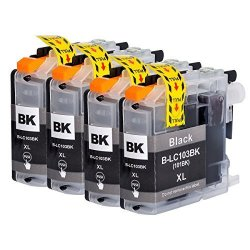 ArtiTech 4 Pack Compatible Brother LC103 LC103XL LC101 Black Ink Cartridges For Brother Inkjet Printers MFC-J870DW MFC-J450DW MFC-J470DW MFC-J6720DW MFC-J4510DW MFC-J4710DW MFC-J475DW MFC-J285DW MFC-J6520DW