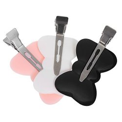 Anself 3 Colours Gripper Clip Without A Trace Link For Hair Fork For Fringe