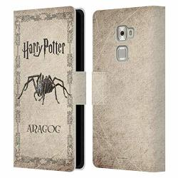 Official Harry Potter Aragog Spider Creature Chamber Of Secrets II Leather Book Wallet Case Cover Compatible For Huawei Mate S