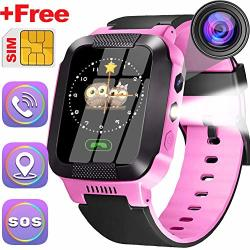 Smart Watch For Kids Gps Tracker 3-12 Years Boys Girls Toddler Smartwatch Phone Outdoor Sport Electronic Gps Tracker Wrist Watch With Sos Anti-lost Game