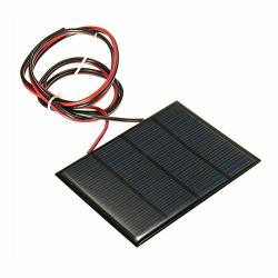 Kystudio 1.5W 12V MINI Power Solar Panel Small Cell Phone Module Charger With Wire