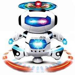 DIMY Toys For 3-5 Year Old Boys Dancing Robot Toys For Kids Toddlers Gifts For 2-5 Year Old Blue DRB02