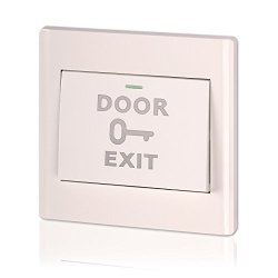 Exit Button Zoter Door Release Switch White Abs Plastic For Diy Access Control System