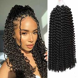 14INCH Passion Twist Hair 6 Packs Water Wave Crochet Braids For Passion Twist Long Bohemian Braids For Passion Twist Braiding Hair Natural Passion Twist