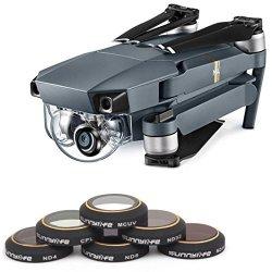 Nesee For Dji Mavic Pro Drone Mrc-uv Mrc-cpl ND4 ND8 ND16 ND32 Camera Lens HD Filters Black