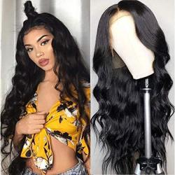 Body Wave Lace Front Human Hair Wigs For Women 150% Density Pre Plucked Hairline With Baby Hair 8-26INCH Peruvian Remy Hair Blea