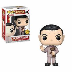 Funko Movies: Mr. Bean - Mr. Bean Pajamas With Teddy Bear Limited Edition Chase Pop Vinyl Figure Includes Compatible Pop Box Protector Case