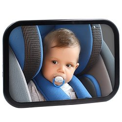 Hippih Safe Baby Car Mirror For Rear View Facing Back Seat For Infant Child Fully Assembled And Adjustable Backseat Shatterproof Mirror With Perfect Reflection By
