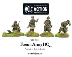 Warlord Games - French Army Hq 28MM Bolt Action Wargaming Miniatures