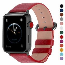 Fullmosa Compatible Apple Watch Band 42MM And 38MM Genuine Leather Band Compatible Apple Watch Series 3 Series 2 SERIES1 Nike+ H