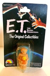 """1982 Ljn Toys E.t. The Extra Terrestrial 2"""" Holding Flower Pot Action Figures Moc"""