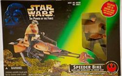 Star Wars Luke Action Figure In Endor Gear With Speeder Bike