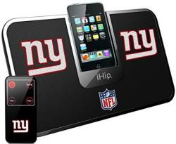 IHip Official Nfl - New York Giants - Portable Idock Stereo Speaker With Wireless Remote NFV5000NYG