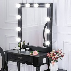 Mrcartool Led Vanity Makeup Mirror Lights Hollywood Style With 10 Touch Dimmable Light Bulbs 6500k White Light 12v Plug In Illuminated For Dressing