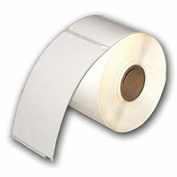 "10 Rolls Of White Raptor Compatible Id Badge Labels - 2 5 16 X 4"" - 300 Badges Per Roll"