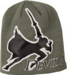 Bioworld Devil May Cry 4 Grey Beanie Hat Symbol Style A Dante Logo