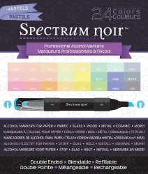 Crafter's Companion Spectrum Noir Alcohol Markers Pastels 24 Per Package