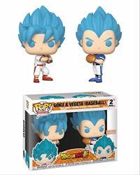 Funko Pop Animation: Dbs- Goku & Vegeta Baseball 2PK Exc