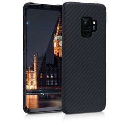 KW-Commerce Kalibri Case For Samsung Galaxy S9 - Strong Solid Aramid Fiber Body Armor Protective Hard Back Cover - Black Matte
