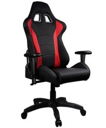 Cooler Master Caliber R1 Gaming Chair Black And Red Recline Height Adjust Head And Lumbar Pillows Premium Materials Ergo