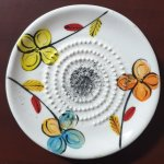 Bright Flowers African Grater Plate
