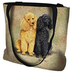 Pure Country Weavers Poodles Hand Finished Large Woven Tote Bag Cotton Usa By Artisan Textile Mill Perfect Decor Gift For Mother