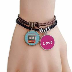 Cold Master Diy Lab One Arm Bandit Illustration Pattern Love Bracelet Leather Rope Wristband Couple Set