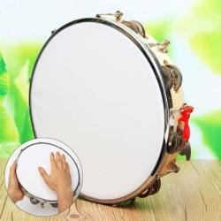 Musical Instruments Drums & Percussion - Polyester Leather Pandeiro Drum Tambourine Samba Brasil Wood Music Instrument