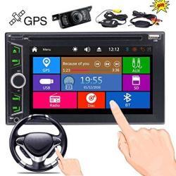 Wireless Rear Camera + Eincar Double Din Car DVD Player In Dash Gps Navigation 2 Din Autoradio Bluetooth Fm am Radio Tuner Car D