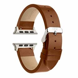 Compatible With Silver Apple Watch Band - Apple Watch Band 42MM Brown Leather - Apple Watch Band 38MM Tan - Leather Wrap Apple W