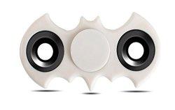 Batman Hand Spinner Fidget Toy High Speed Spinner Fidget 2 Sided Spinner Toy Batman Fidget Spinner Stress Reducer Relieves Adhd Edc Focus Toy White