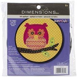 Dimensions Crafts 72-74061 Little Owl Felt Applique