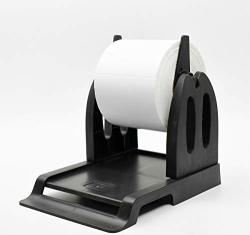 Thermal Label Holder For Rolls And Fan-fold Labels Great For Desktop Thermal Printers Label Holder Black