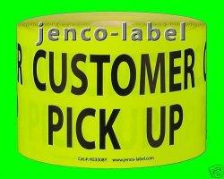 Jenco-label HS3508Y 500 3X5 Customer Pick Up Label sticker